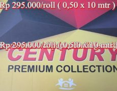 Wallpaper Century Rp 295.000/roll